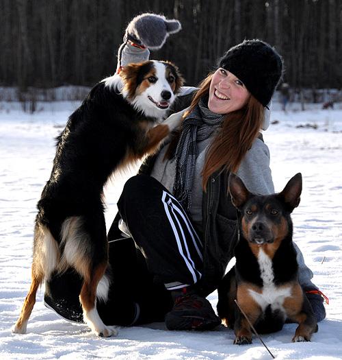Jac, Khimmie och Jax en underbar vinter dag ute på NBK
